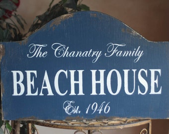 YOUR COLORS CUSTOMIZED Beach Lake House Vintage wood sign