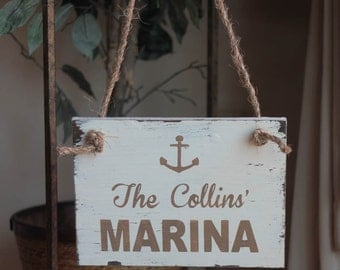 CUSTOM Nautical DISTRESSED wood sign