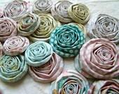 Paper flowers set of 22 handmade roses pastel blooms MME Lavender