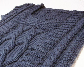 Saxon vest knitting pattern