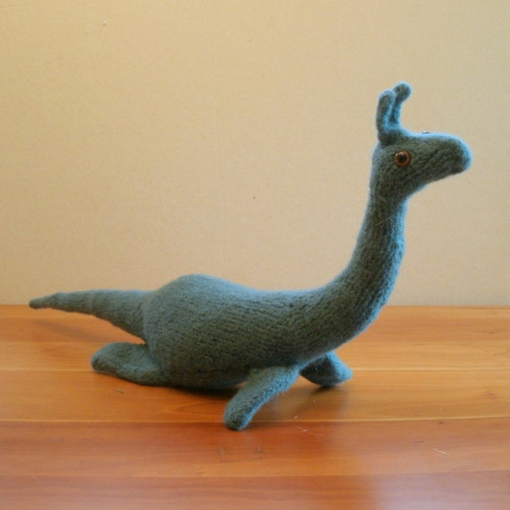 Loch Ness Monster, Stuffed Animal, Sea Serpent, handmade, by FeltedFriends