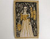 our dreams never fade - original embroidery artwork