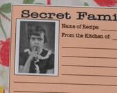 PDF Recipe Cards - Vintage Retro Style - Secret Family Recipe Gift Idea (00244-LV)