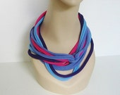 Scarf Circle Blue Purple Hot Pink Lavender Jersey