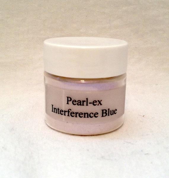 Pearl Ex Mica Pigment Powder 6 gm Jar INTERFERENCE BLUE #671 Art Craft Paint Medium Mixed Media Collage Jewelry Resin Wax Clay Pearl Finish