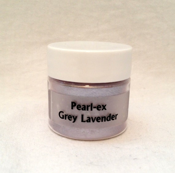 Pearl Ex Mica Pigment Powder 6 gm Jar - GREY LAVENDER #645 - Art Craft Paint Medium Mixed Media Collage Jewelry Resin Wax Clay Pearl Color