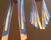 Large Pony O--Pony Streamers--Team or School Colors--Orange and Blue--Generals
