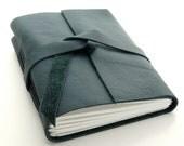 Ocean Blue Leather Journal and Sketchbook, A Handmade Journal