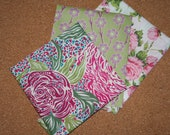 Liberty Tana Lawn Cotton Fabric - Mini Craft Pack: Pink Posies