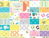 Baby Blanket  Modern Patchwork Infant Crib Blanket made with Grow with Me Collection for Moda Fabrics
