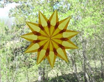 11 Point Gold Window Star Suncatcher