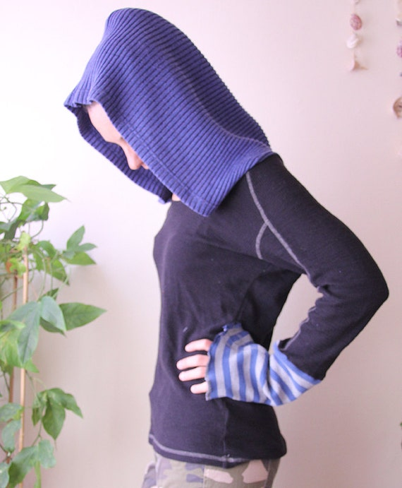 reconstructed eco friendly mens hoodie sweater unisex small