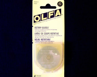Olfa 45mm Rotary Cutter Blades  5pak (#RB45 5)