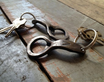 Keychain Beer Bottle Openers - Hand-forged by a Blacksmith