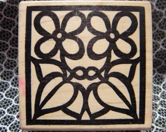 Four Pedal Flower Rubber Stamp