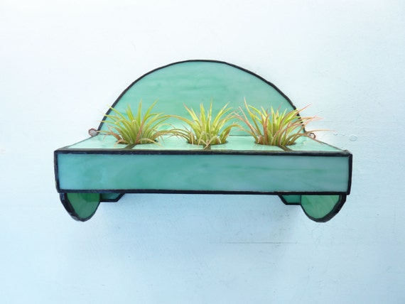 Stained Glass Shelf for Air Plants - Minty Fresh