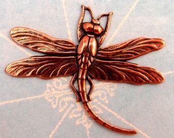 Antique Copper Dragonfly Pendant, AC120-2