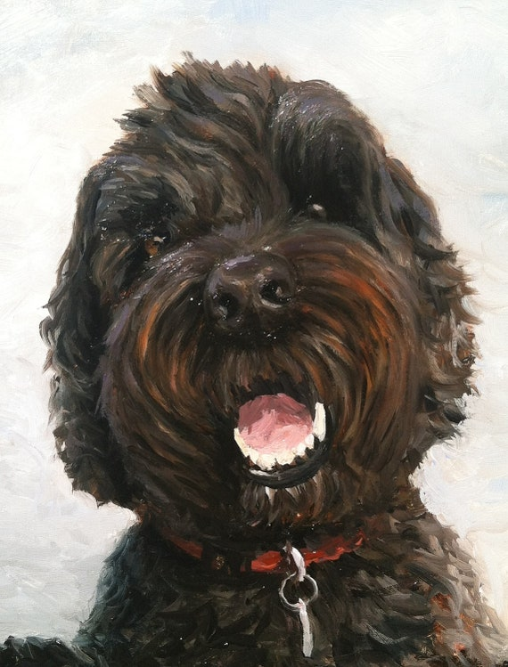 5x7 inch Custom Pet Portrait Oil Paintings by Nick Orban