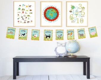 Global Child Room Collection-Gender Neutral Theme