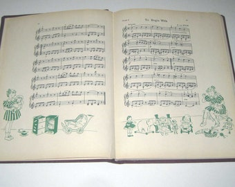 Young America's Music Volume 5 Vintage 1930s Children's Songbook Includes Halloween