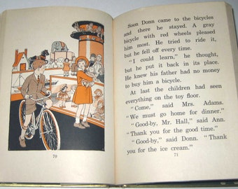 City Friends Vintage 1930s Children's School Reader or Textbook