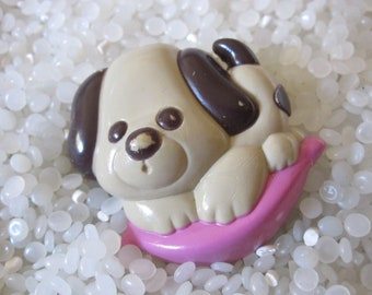 Vintage Avon brown puppy  pin pal perfume glace
