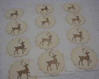 Handmade Sticker Seals - Christmas Reindeer - Envelope Seals