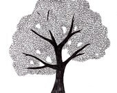 Oak Tree Ink Drawing (digital print)