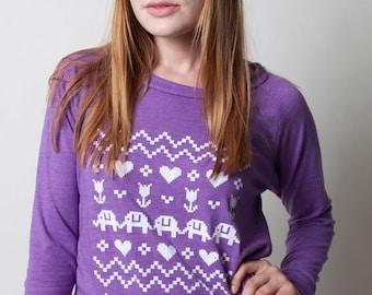 SALE Ladies Cross Stitch Pullover