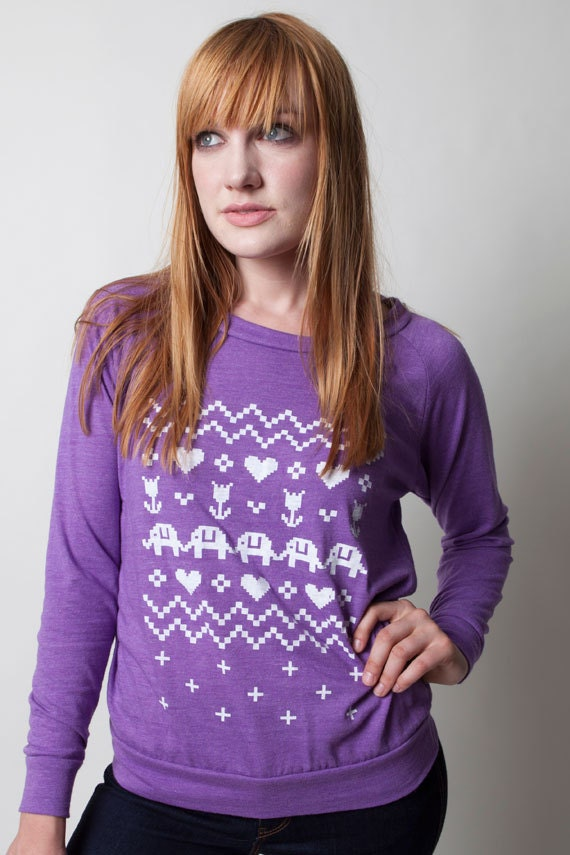 SALE Ladies Cross Stitch Pullover