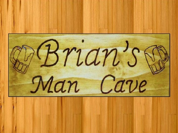 Personalized Man Cave Signs Etsy : Personalized signs man cave free name with beer