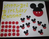 Mickey Mouse Inspired Fondant Cake Toppers Complete Set sheet Cake Decorations