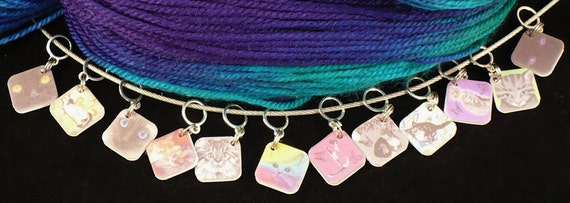 CATS Kittens stitchmarkers for KNITTERS or CROCHETERS