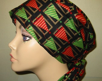 ChristmasTree Chemo Scarf, Hat, Cancer Hat, Hijab, Alopecia