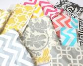 DESTASH Fabric Scrap Bundle - Premier Prints Decorator Weight Fabric - Remnants - Priority Mail Flat Rate Box