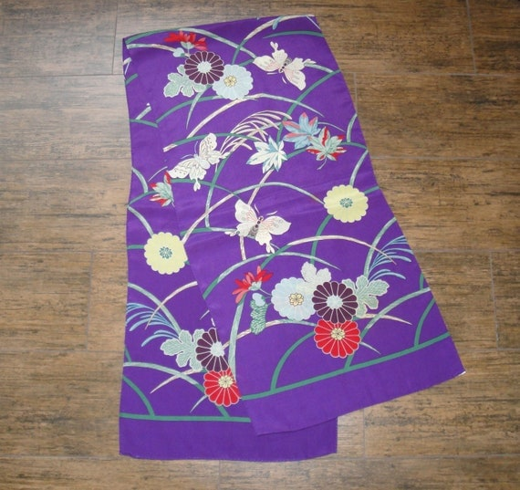 Vintage Scarf, Metropolitan Museum of Art Exclusive, Silk, Oriental inspired floral oblong Scarf, 1980s era