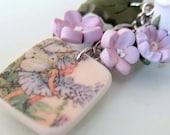 Flower Fairy Purse Charm - Polymer Clay