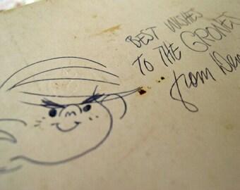 Vintage Dennis the Menace Napkins w/Ketcham autograph