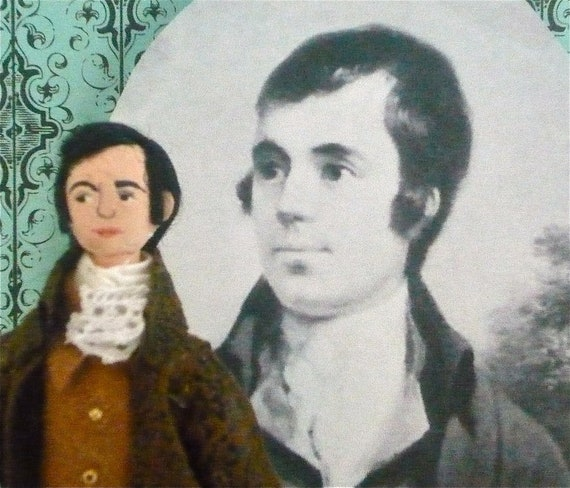Robert Burns Doll Poet of Scotland Miniature Art