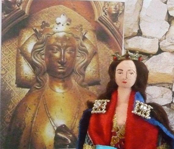 Eleanor of Castile Wife of King Edward l Doll Miniature Historical Art