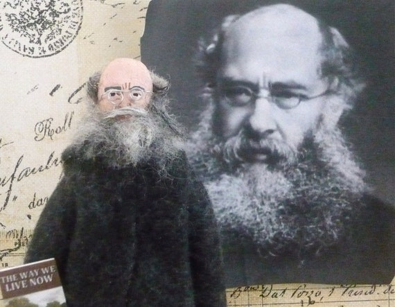 Victorian Author Anthony Trollope Doll Miniature