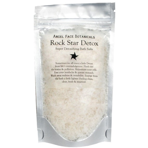 Rock Star Detox Bath Salts by Angel Face Botanicals - Super-Detoxifying Sea Mineral and Essential Oil Soak - 5 oz