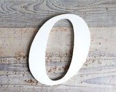 Vintage Lucite  Mid Century Industrial Sign Letter - O