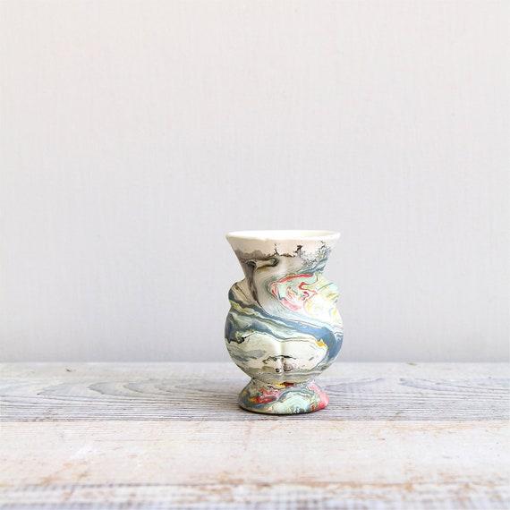 Vintage Southwestern Swirl Vase - like Nemadji Pottery