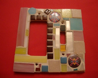 Shabby Chic meets Southwest Mosaic Switchplate Toggle and Gfi or Rocker Switch