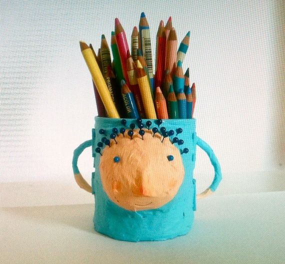 creature that will hold your pens   art useful doll