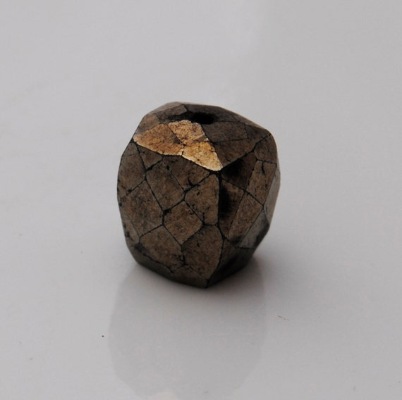 Pyrite Cube faceted Qty 1, 8-9mm