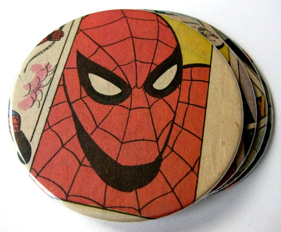Spider-Man Coasters // Recycled Vintage Comic // Set of 4
