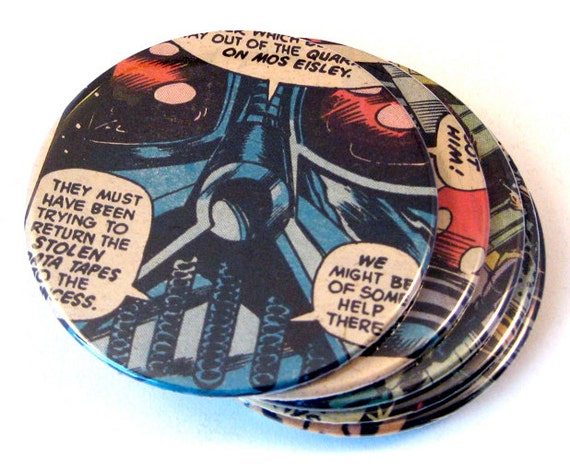 Star Wars Coasters // Recycled Comic Book