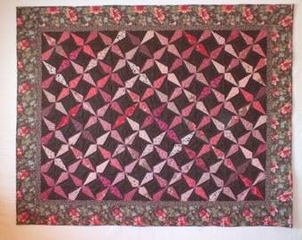 Chocolate Raspberry Truffle quilt